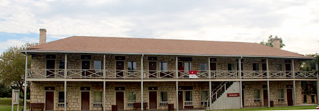 Picture of old army barracks now the Patton motel