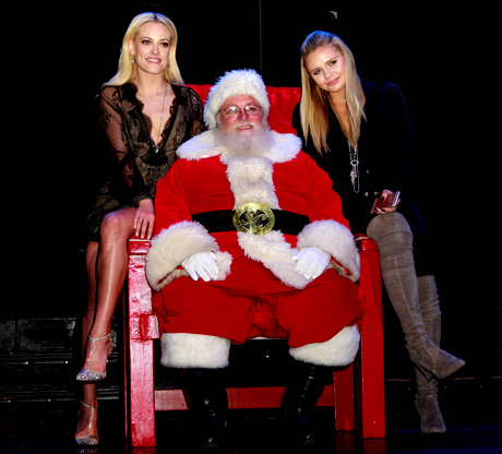 Santa, Peta Murgatroyd and Alli-Simpson