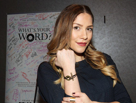 Allison Holker with What's Your Word?