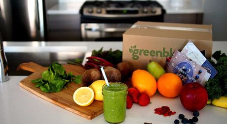 Green Blender delivers all the fresh whole goodies that go in your smoothie.