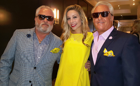 Kira Kazatsev - Miss America, with Matt and Mark Harris