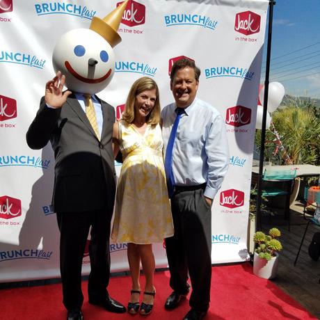 Jack and wife with media star Sam Rubin