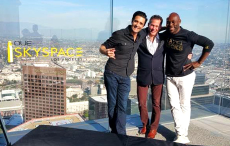 Gilles Marini, Gavin Keilly at OUE Skyspace