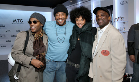 Recording artists Jesse Johnson, Q-Tip and Jerome Benton