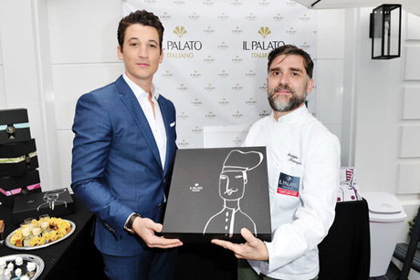 Actor Miles Teller with chef