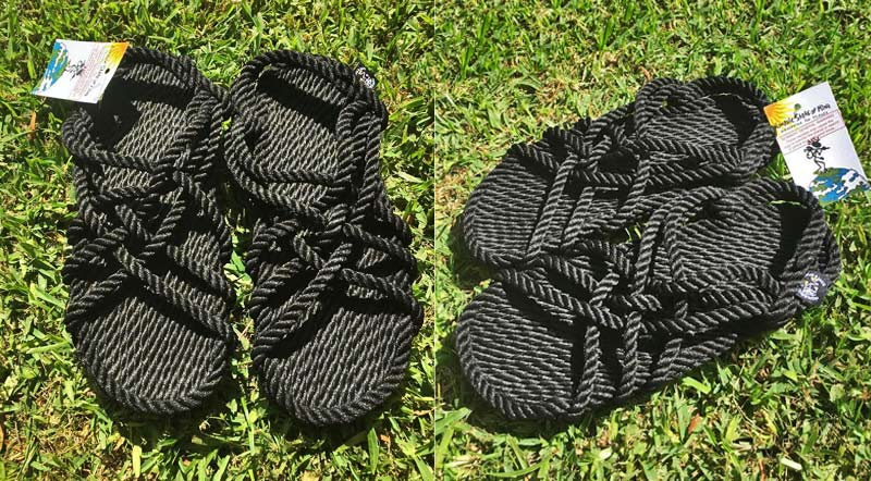 Nomadic State of Mind Handmade Sandals, JC in Black