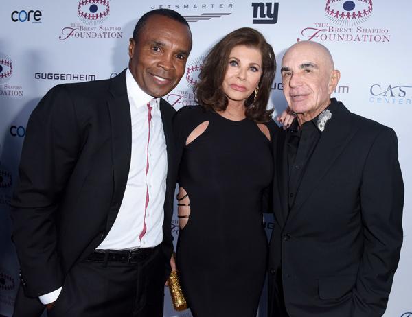 Sugar Ray Leonard with Linell Shapiro and Robert Shapiro