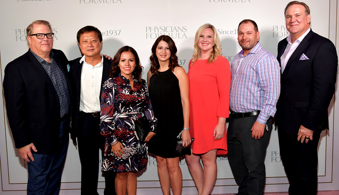 John Stephenson, Owner & CEO, Physicians Formula, Eric Chen, Marcie Hoklas, Carolina Howski, Diana Hand, VP of Sales, Physciians Formula, Eric Weeks, and President, Physicians Formula, Bill George