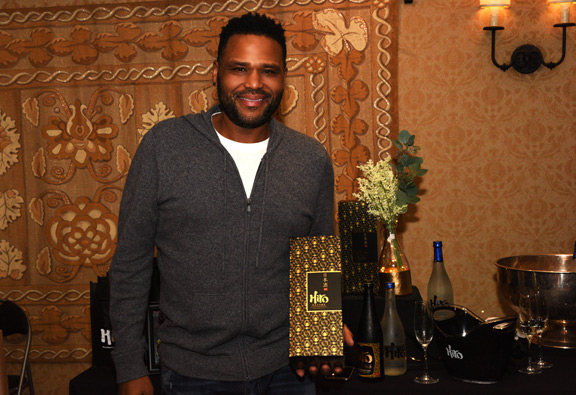 Anthony Anderson with Hiro Sake