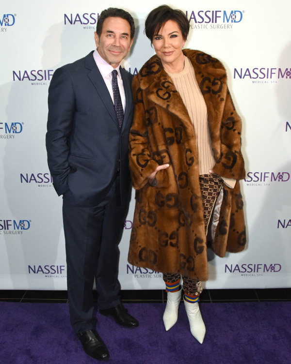 Dr. Paul Nassif and Kris Jenner.