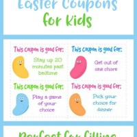 Free Printable Easter Coupons for Kids