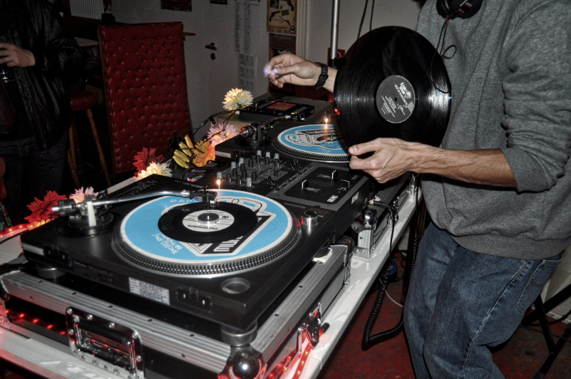 DJ at the Turntable