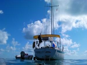 Third Aye Stern on anchor