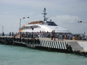 Ferry dock in Cozumel