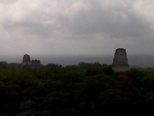 Tikal view temples 2