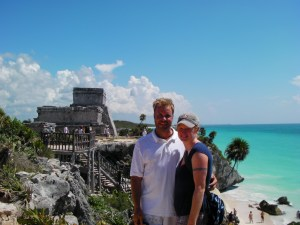 Tadd and Lindsay at Tulum