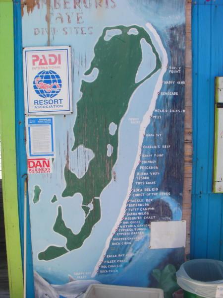 San Pedro reef map