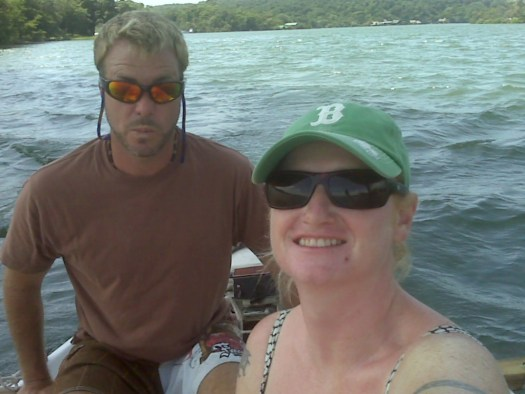 "Tadd and Lindsay aboard ""Ayelet"""