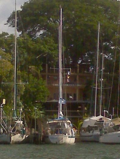S/V Third Aye at dock in Guatemala