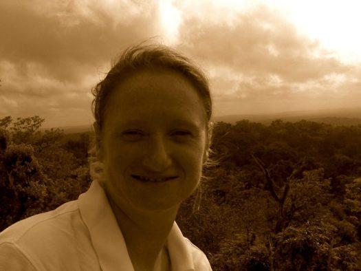 Tikal view me sepia