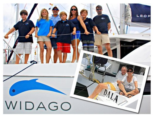 The crew of SV Widago and SV Dala in the 2015 ARC Europe