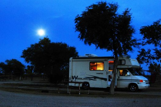 Badlands, SD Campground sunset WINNIE