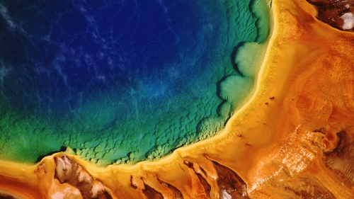 Yellowstone National Park, Wyoming, USA --- Grand Prismatic Spring --- Image by © Pete Saloutos/CORBIS