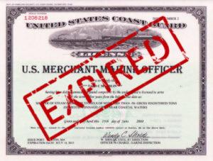 USCG Master Expired