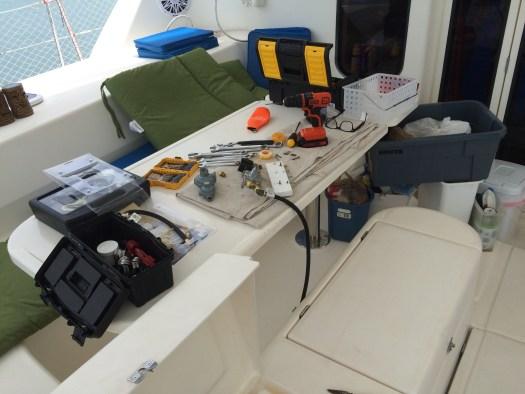 Tools in Makara cockpit