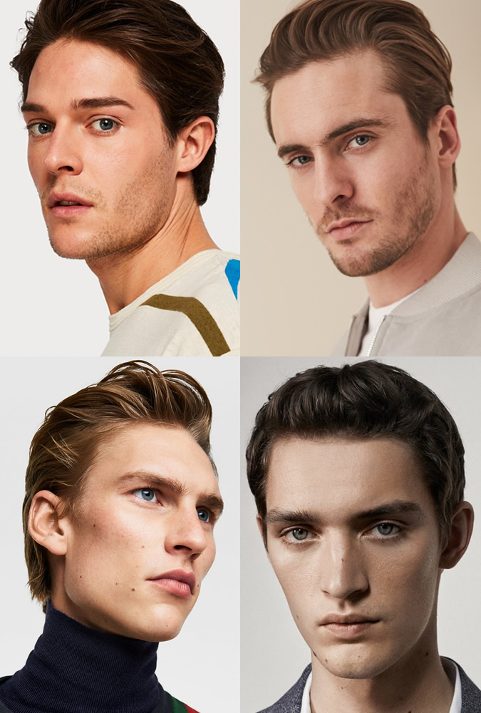 Classic Loose Backward young men's hairstyles for thick hair, 2020 men's hairstyles for thick hair, thick hair mens hairstyles, thick hair men Thick Hairstyles men