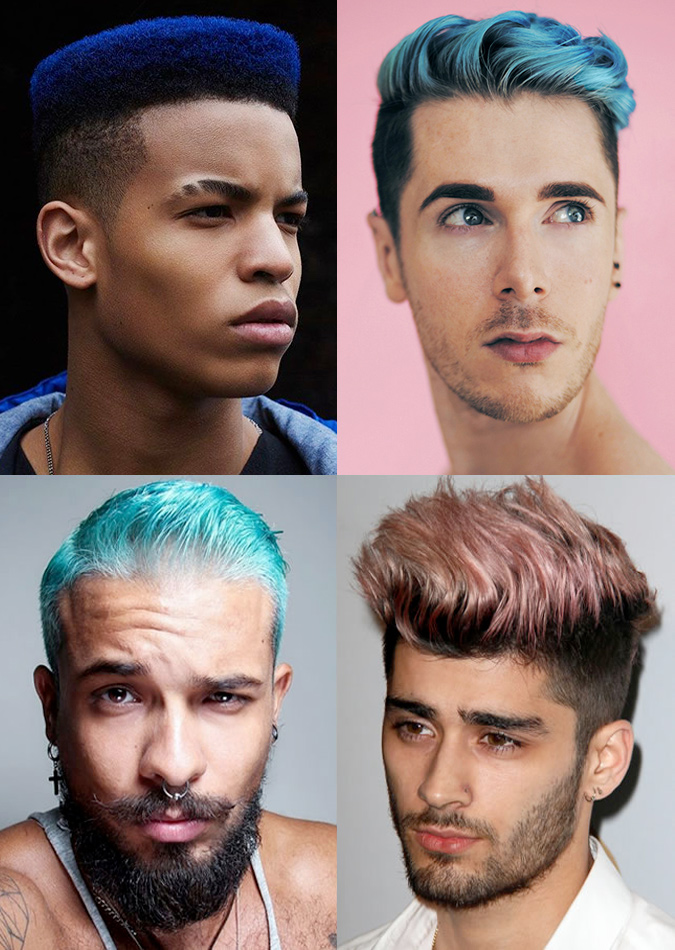 Men's Coloured Hairstyles