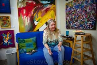 Jan Middleton Roset in her studio at the East Austin Studio Tour, Austin, Texas, November 13, 2016.