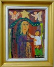 Madonna and Child, 1999, aged 5, inspired by Romanian Orthodox icons