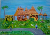 La Palm Beach Resort, 2002...the last of the African beach paintings