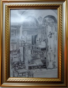 The Golden Room, 2006 (based on a watercolor by Anna Alma-Tadema)
