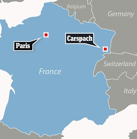 Il ritrovamento è avvenuto a Carspach nella regione francese dell'Alsazia