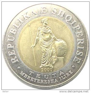 Moneta commemorativa Regina dell´Illiria Teuta ALBANIA 100 Leke 2000