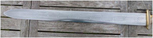 Replica della Spada con evidenza della lavorazione decorativa