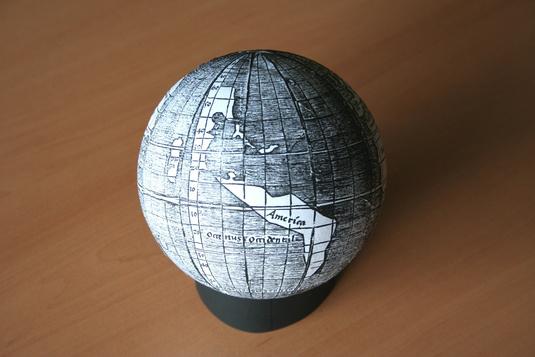 Ricostruzione del globo di Waldseemüller (Munich University Library)
