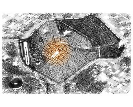 Individuazione del foro romano nella mappa di milano