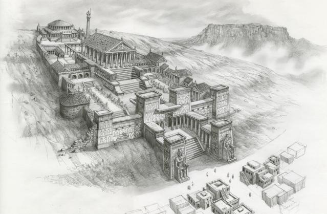 Ricostruzione del Tempio a Serapide in Alessandria