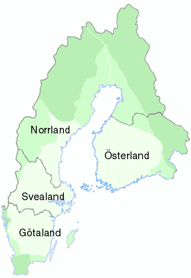 Antiche regioni della Svezia