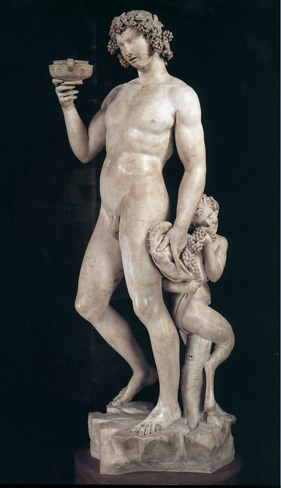 Il Bacco ebbro in compagnia di Pan, di Michelangelo Buonarroti. Museo del Bargello, Firenze