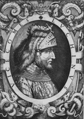 Luchino Visconti, Sommario delle vite de' duchi di Milano, cosi Visconti, come Sforzeschi, Venezia, 1574 di Girolamo Porro