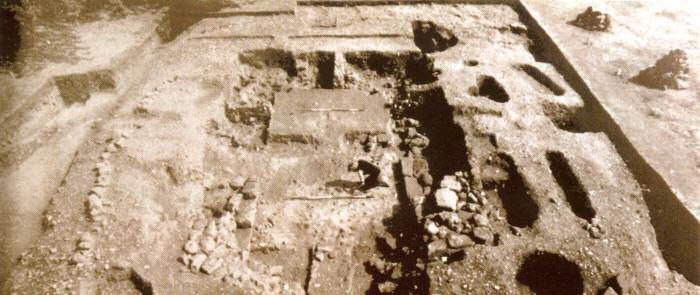 Immagine degli scavi nel sito di Repton, Derbyshire
