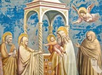 Presentazione di Gesù al tempio. Giotto: Cappella degli Scrovegni a Padova