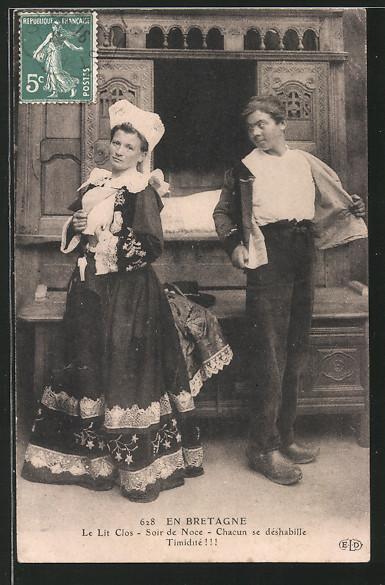 Cartolina bretone - Prima notte di nozze (Foto: http://www.ak-ansichtskarten.de/)