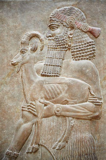 Bassorilievo dal Palazzo di Sargon II a Khorsabad, Louvre Room 4 , Paris | Photos Gallery