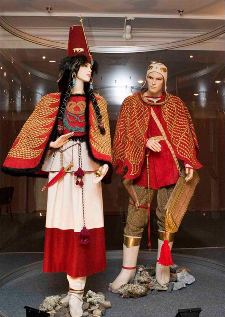 La ricostruzione dei costumi realizzati dagli esperti del Museo Hermitage. (Foto: Museo dell'Hermitage)