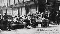 Truppe britanniche durante la Rivolta di Pasqua del 1916
